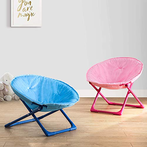 AmazonBasics Kids Folding Moon Indoor Papasan Chair for Children