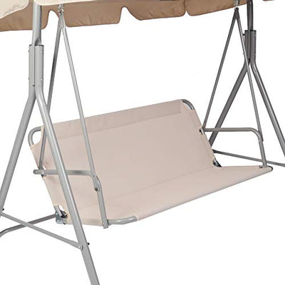 Vilobos Patio Swing,3 Person Porch Swing with Stand