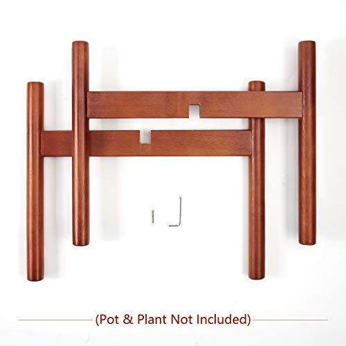 Plant Stand Mid Century Wood Wooden Pot Flower Holder Display Rack Rustic Decors