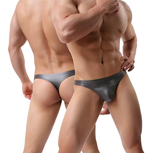 MuscleMate Premium Men's Thong Underwear, 2018 F/W Collections: S, Grey