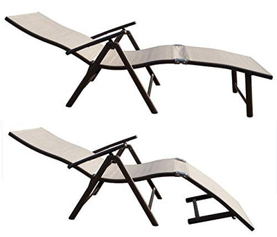 Folding Reclining Adjustable Chaise Lounge Chair