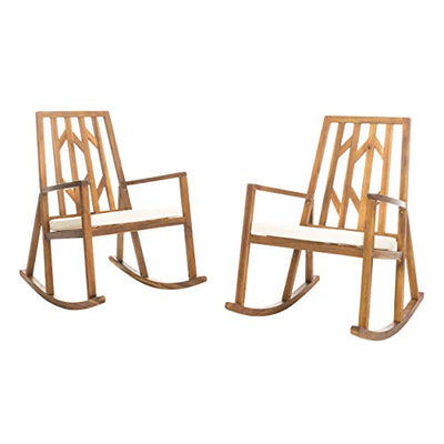 Outdoor Wood Rocking Chairs with Cushions