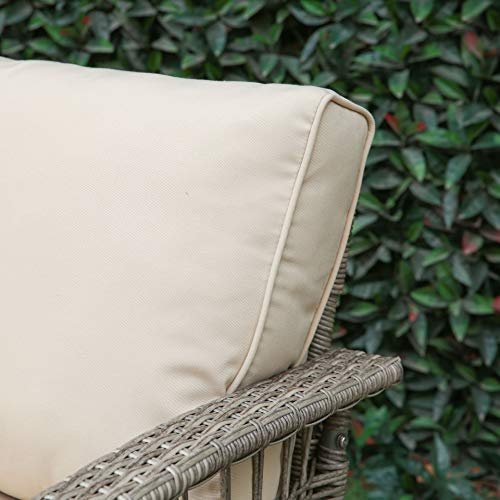 Creative Living Rowley Patio Furniture Sofa Set, Beige