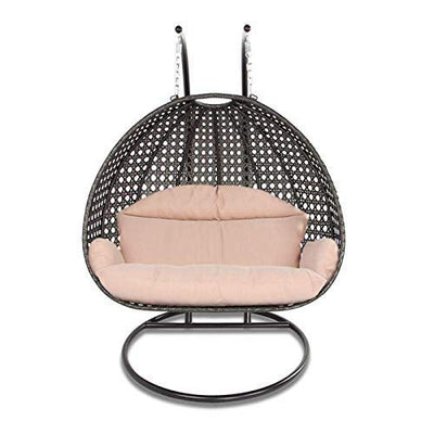Island Gale Luxury 2 Person Wicker Swing Chair