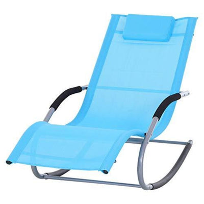 Outsunny Chaise Rocker Patio Lounge Chairs with Recliner