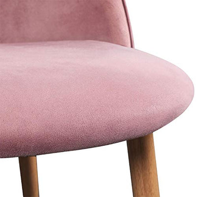 Accent Upholstered Side Chairs with Soft Velvet Seat Backrest