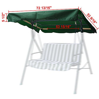 "Yescom 72 1/2"" x 53 1/2"" Outdoor Swing Canopy Replacement"