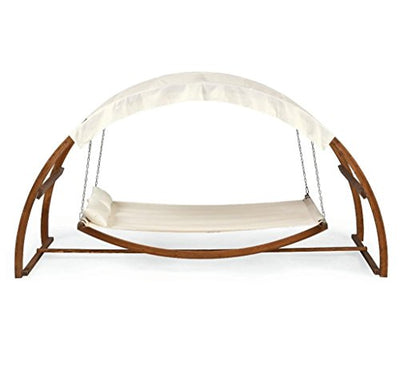 Patio Swing With Canopy Outdoor Arch Modern Daybed Set