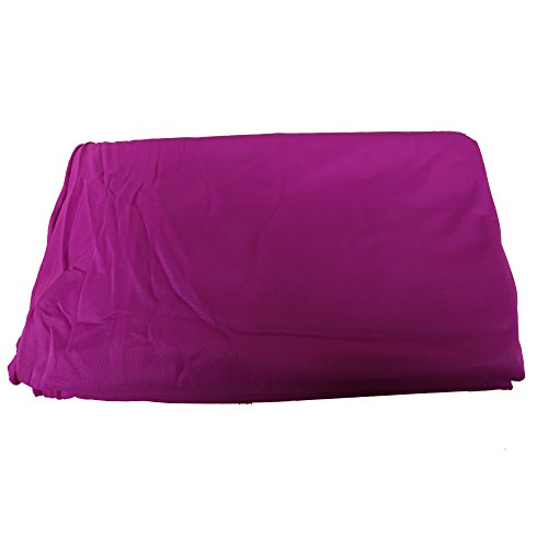 wellsem Deluxe L:5.5 Yards W:3 Yard Yoga Flying Swing Aerial Yoga Hammock Silk Fabric for Yoga Bodybuilding(5mx2.8m) (Violet)