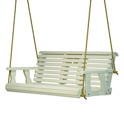 800 Lb Rollback Console Treated Porch Swing With Hanging Ropes