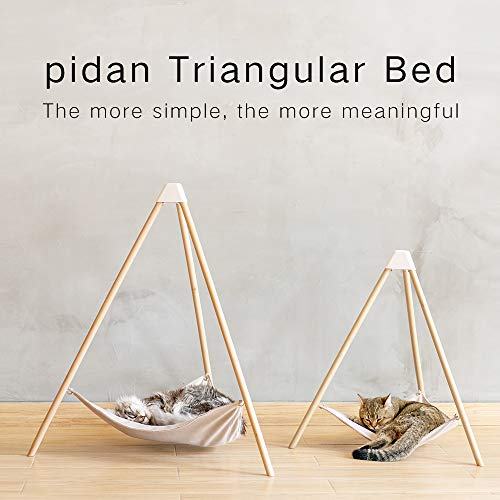 Pidan cat Hammock Bed with Stand Natural and Beech Chenille Velvet