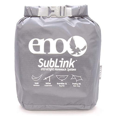 ENO - Eagles Nest Outfitters SubLink Lightweight Shelter System with Hammock, Straps, Bug Net and Rain Tarp