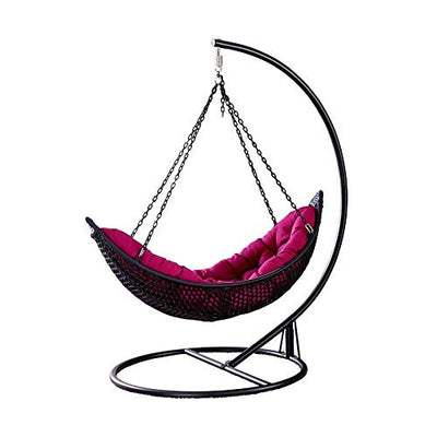 Hanging Curved Chaise Lounge Chair Swing