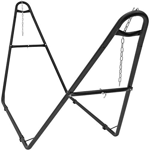 Sunnydaze Universal Multi-Use Hammock Stand, 2 Person, Heavy Duty Steel, Fits Hammocks 9 to 14 Feet Long, 440 Pound Capacity, Black
