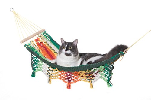 Organic Cotton Cat Hammock Bed Pet Swing Cradle Monteverde Design