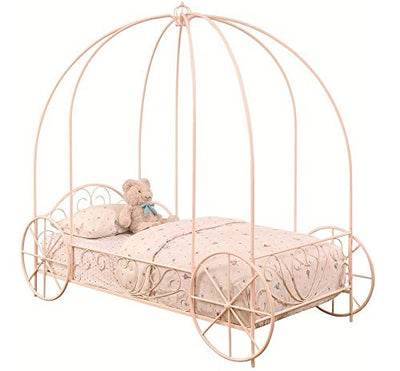 Coaster Home Furnishings Massi Twin Canopy Carriage Bed Powder Pink