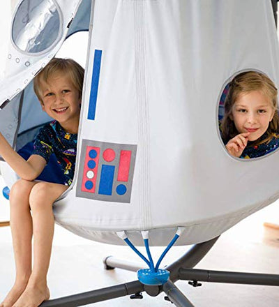 HearthSong Space Capsule Hangout Hanging Play Tent & Crescent Stand