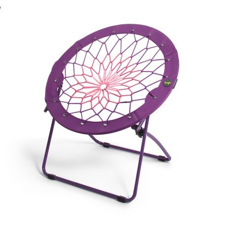 "32"" flexible and steel frame Gaming Camping Folding Chair in Purple"