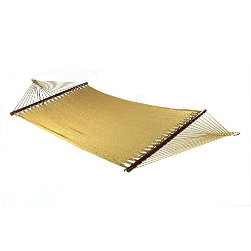 Soft-Spun Polyester Rope Hammock with Spreader Bars