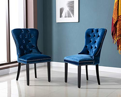 Kmax Velvet Elegant Upholstered Patio Dining Chairs