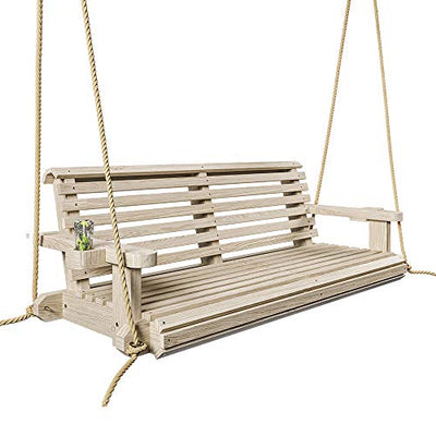 Heavy Duty 800 Lb Roll Comfort Treated Porch Swing W/Ropes