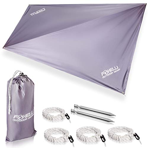 Foxelli Rain Tarp | Perfect Rain Fly for Hammock