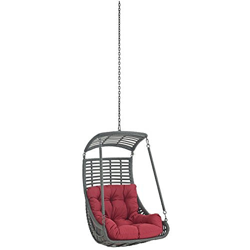 Charmant Modway Jungle Outdoor Patio Swing Chair Without Stand, Red
