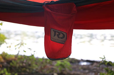 Twisted Root Hammock Twisted Double Hammock: Red