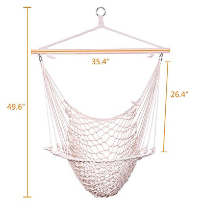 Cotton Hanging Rope hammock Chair Swing Chair