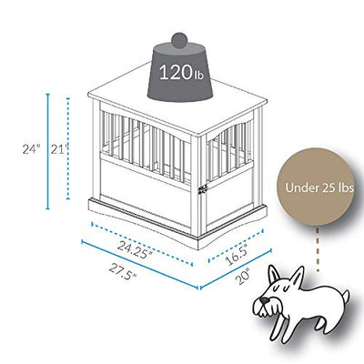 Wooden Pet Crate:  Black