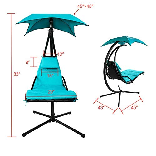 Hanging Hammock Chair Lounge Swing: Blue