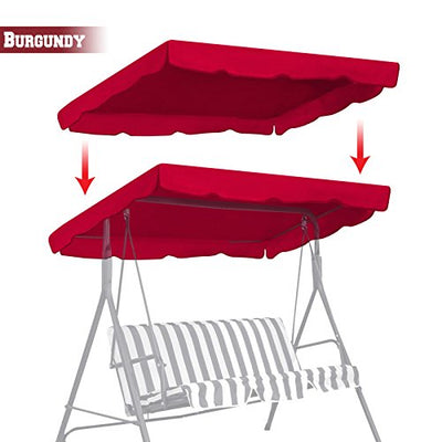 "77""x43"" Swing Canopy Replacement Porch Top Cover Seat"