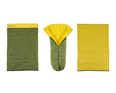 ENO, Eagles Nest Outfitters Spark Camp Quilt Hammock Blanket and Sleeping Bag, Evergreen