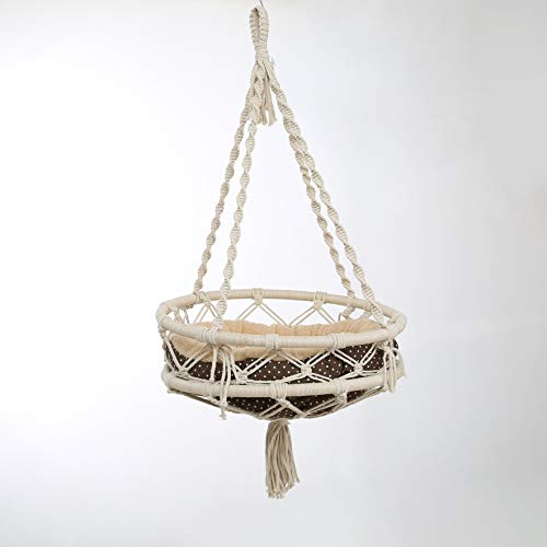 laddawan Macrame Cat Bed, Hammock for cat,Cat Swing