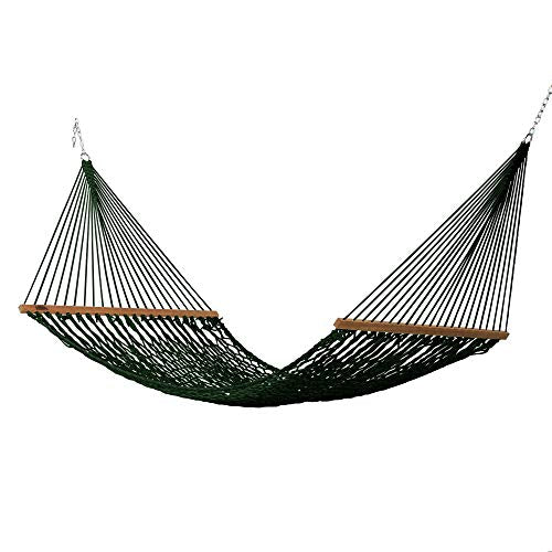 Hatteras Hammocks Large DuraCord Rope Hammock: Green