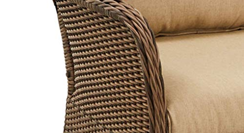 Camrose Farmhouse Wicker Porch Swing
