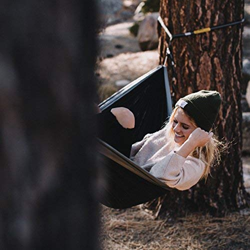 Wise Owl Outfitters Hammock for Camping Single & Double Hammocks  | Black & Grey