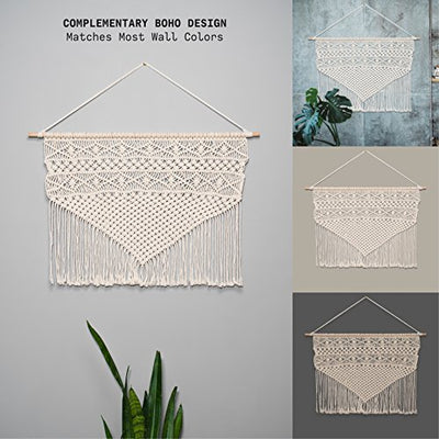 Objects in Space Wide Macrame Wall Hanging