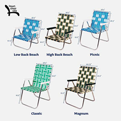 Lawn Chair USA Aluminum Webbed Chair