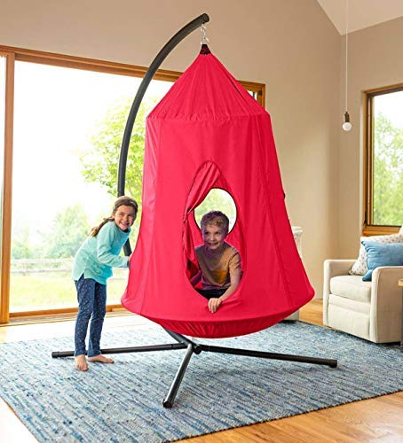 HearthSong HugglePod Hangout Hanging Tent: Red