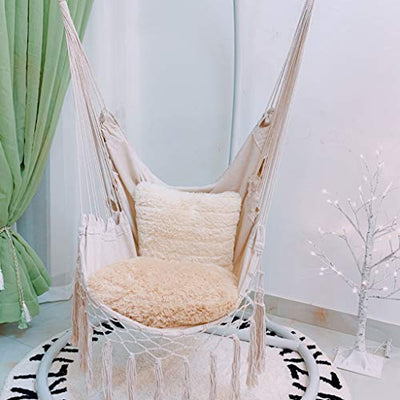 Hanging Hammock Chair With Fringes