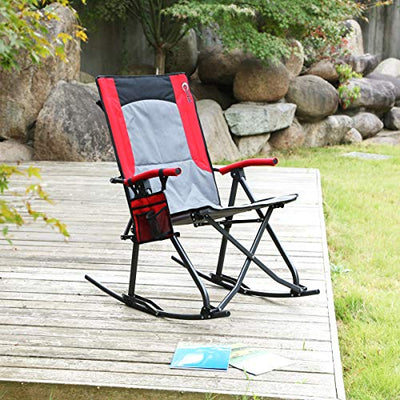 Oversized Quad Folding Padded Camping Rocking Chair