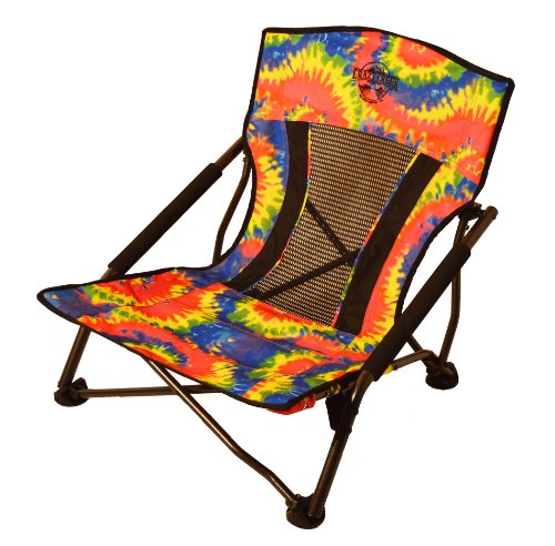 Crazy Creek Products Quad Beach/Festival Chair, Tie-Dye