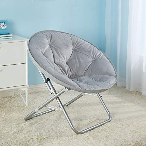 Urban Shop Micromink Saucer Chair, Grey
