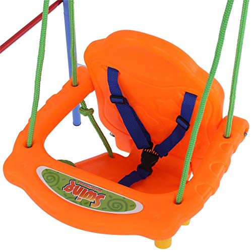 Toddler Swing Set | A-Frame Outdoor Swing Seat with Safety Belt