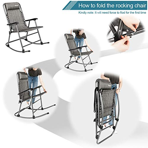 Folding Rocking Outdoor Portable Recliner