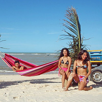 Barbados Single Brazilian Hammock: Sorbet