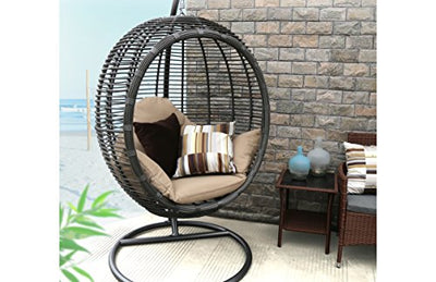 Oval Egg Hanging Patio Lounge Chair U0026 Porch Swing