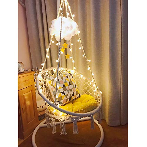 Sonyabecca Macrame Hammock Chair with LED