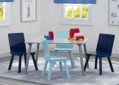 Delta Children Kids Table and Chair Set (4 Chairs Included)